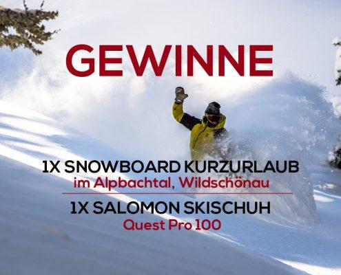 Zu gewinnen - Wild East Dresden Gewinnspiel, Ski & Snowboard Verlosung